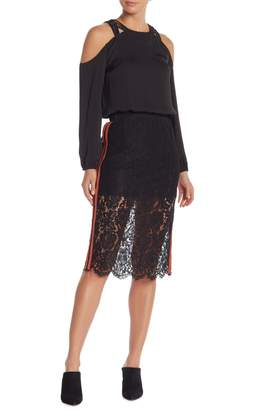 Do & Be Do + Be Lace Stripe Pencil Skirt