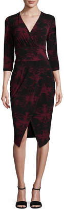 Rachel Roy Printed V-Neck Dress
