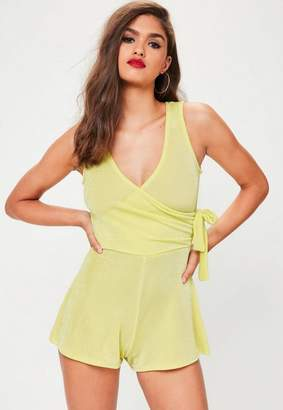 Missguided Tie Side Slinky Playsuit