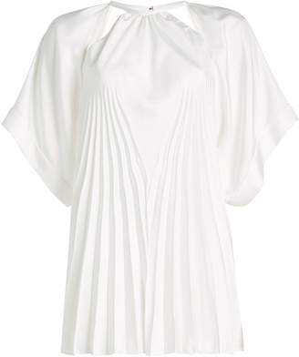 Maison Margiela Pleated Blouse with Cut-Out Detail