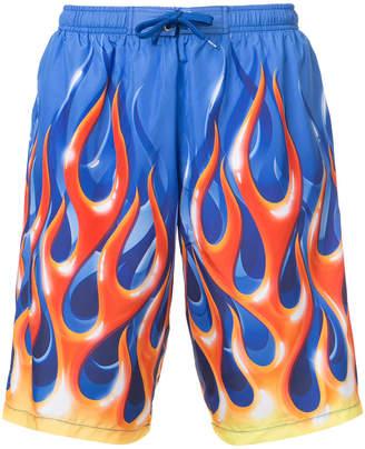 Moschino flame swim shorts