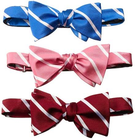 Regimental Pencil Stripe Bow Tie