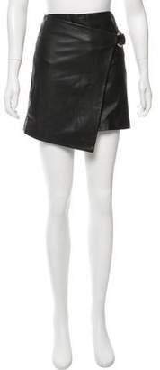 BA&SH Leather Mini Skirt