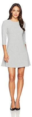 Ellen Tracy Women's Petite Size Elbow Sleeve Seamed Flounce Dress
