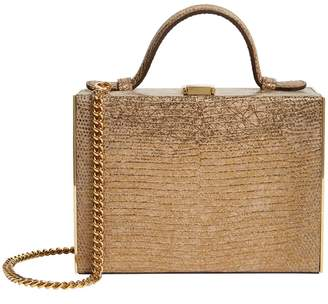 Mark Cross Mini Leather Rear Window Top-Handle Bag
