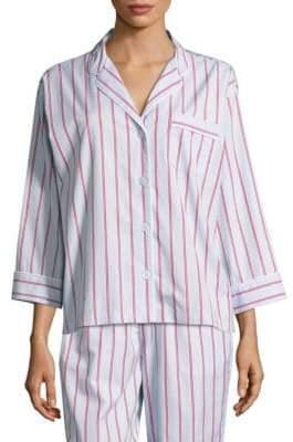 Sleepy Jones Marina Striped Cotton Pajama Shirt