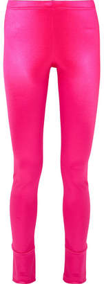 Junya Watanabe Stretch-satin Leggings - Fuchsia