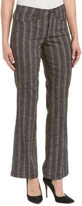 NYDJ Black & Natural Linen-Blend Trouser