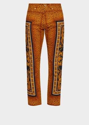 Versace Signature Wild Print Jeans