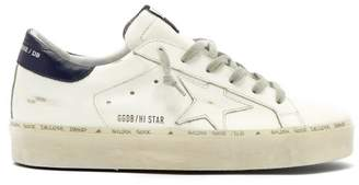 Golden Goose Hi Star Low Top Leather Trainers - Womens - White Navy