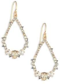 Alexis Bittar Spiked Crystal Teardrop Earrings