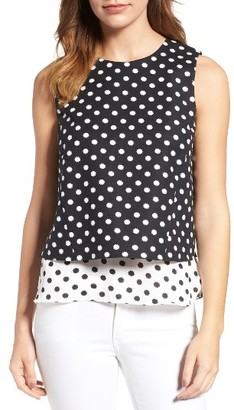 Women's Cece Layered Tank $79 thestylecure.com