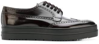 Prada platform lace-up shoes