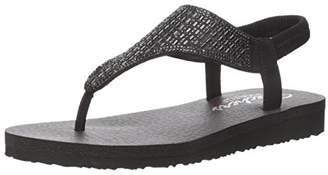 5fbe62cb5ee5 Skechers Women s Meditation - Rock Crown Ankle Strap Sandals