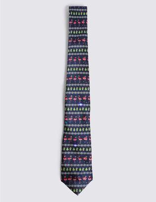 Marks and Spencer Light Up Flamingo Christmas Tie