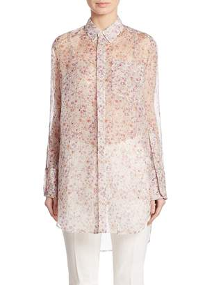 Calvin Klein Collection Women's Kershaw Floral-Print Silk Tunic