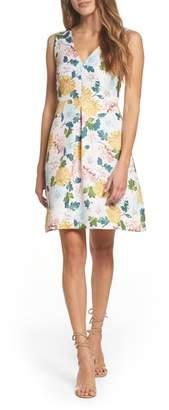 Sam Edelman Jacquard A-Line Dress