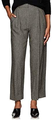 The Row Women's Nica Houndstooth Trousers - Black
