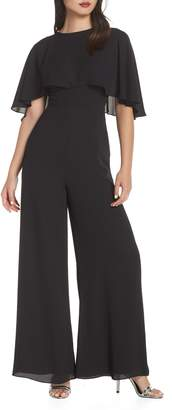 Fame & Partners Georgette Jumpsuit with Removable Cape
