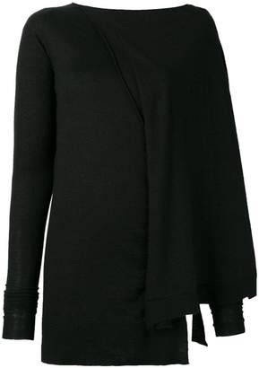Rick Owens slim-fitted asymmetric sweater