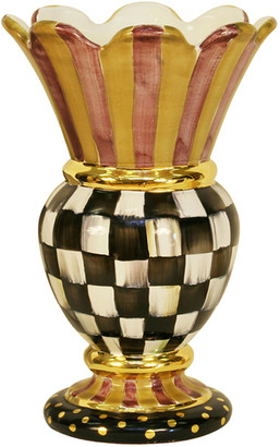 Mackenzie Childs Courtly Check Great Vase
