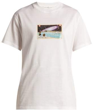 Golden Goose Deluxe Brand - Graphic Print Crew Neck Cotton T Shirt - Womens - White