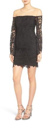 Women's Bardot Flora Lace Off The Shoulder Dress $119 thestylecure.com