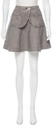 Sacai Houndstooth Mini Skirt