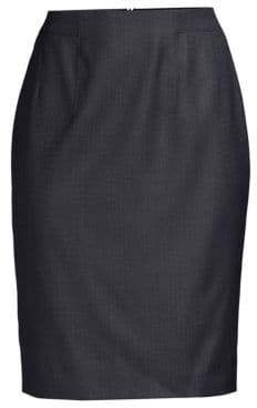 BOSS Vabahana Virgin Wool Suiting Pencil Skirt