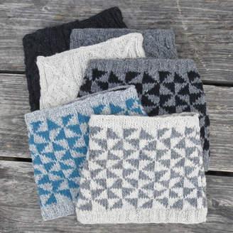 Aura Que Hira Handknitted Roll Neck Wool Scarf