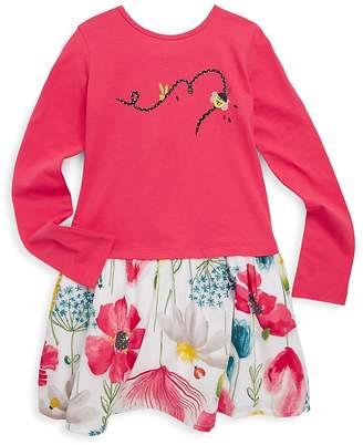Catimini Little Girl's & Girl's Floral Fooler Dress