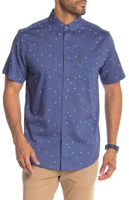Ben Sherman Scattered Target Print Short Sleeve Shirt