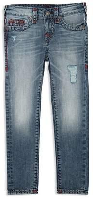 True Religion Boys' Distressed Rocco Jeans - Little Kid
