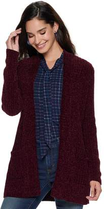 Apt. 9 Women's Chenille Open Front Ribbed Cardigan
