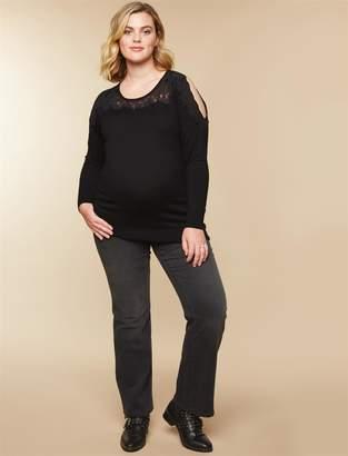 Motherhood Maternity Plus Size Secret Fit Belly Boot Cut Maternity Jeans