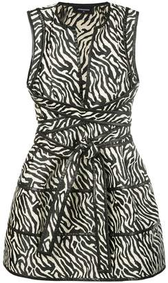 DSQUARED2 animal print plunge dress