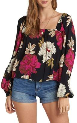 Billabong Mi Amore Floral Print Top