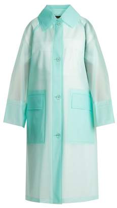 Burberry Point Collar Frosted Coat - Womens - Light Blue