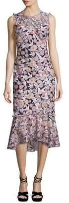 Shoshanna Barlett Sleeveless Floral Midi Dress, Multicolor