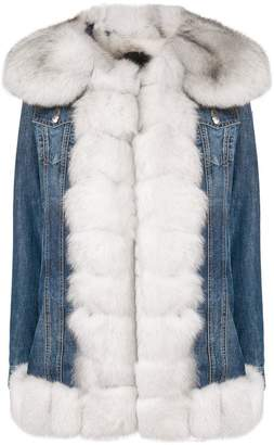 Philipp Plein fur trim denim jacket