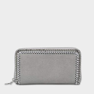 Stella McCartney Shaggy Deer Falabella Wallet in Light Grey Eco Leather