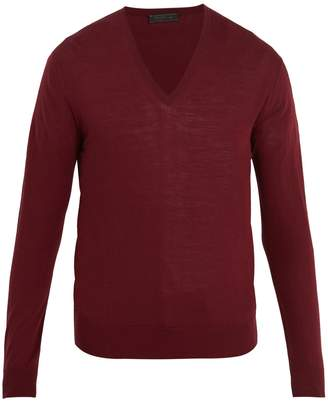 Prada V-neck wool sweater
