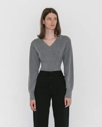 Alexander Wang Twist-Back Cropped Sweater