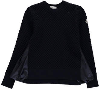 Moncler Pullover with Nylon Detailing