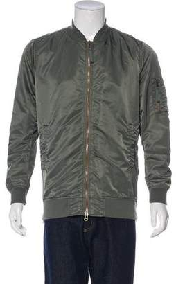 Vince Zipper-Accented Bomber Jacket