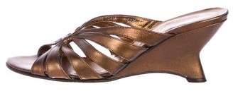 Donald J Pliner Metallic Slide Wedges