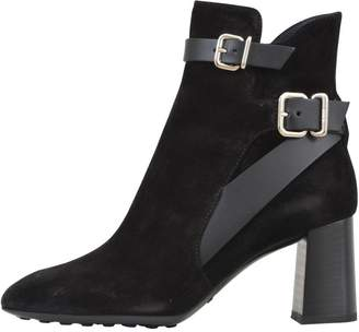 Tod's 7cm Black Suede Boots