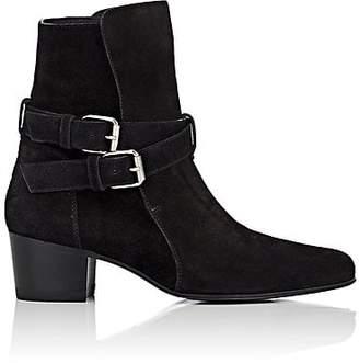 Amiri Women's Buckle-Strap Suede Jodhpur Boots - Black