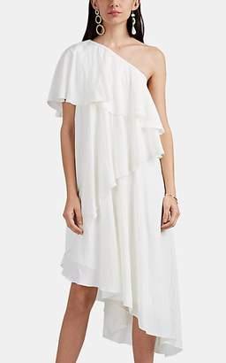Lanvin Women's Matte Satin One-Shoulder Dress - White