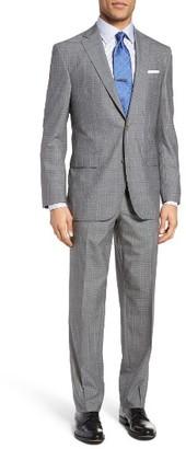 Men's David Donahue Ryan Classic Fit Plaid Wool Suit $795 thestylecure.com